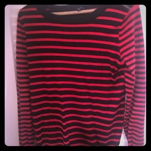 Black and red striped sweater